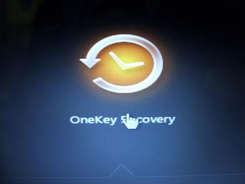 U450p OneKey Recoveryを選択
