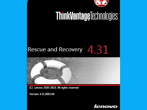 Rescue and Recovery 4.31