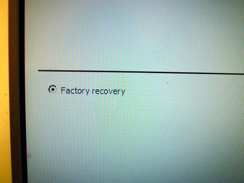 Factory recovery
